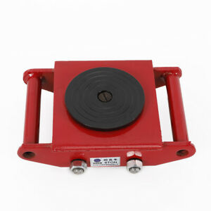 13200lbs Machinery Mover Roller Dolly Skate 360 Rotation Steel Wheel Red 6t