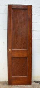 24 X80 Vintage Antique Old Solid Wood Wooden Interior Closet Door 2 Panels