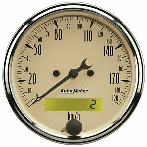 Auto Meter 1887 M Antique Beige Series 3 1 8 Programmable Speedometer Gauge