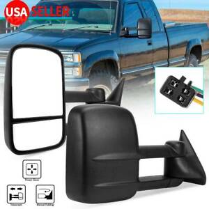 Pair Power Tow Mirrors For 92 99 Chevy Suburban 88 98 Chevy Gmc C K 1500 2500