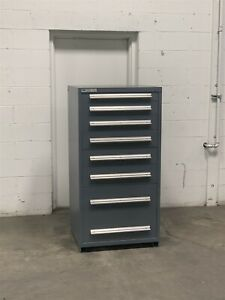 Used Stanley Vidmar 8 Drawer Modular Cabinet Industrial Tool Parts Storage 2209