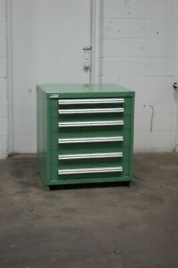 Used Vidmar 6 Drawer Cabinet 33 High Industrial Bench Storage 1789