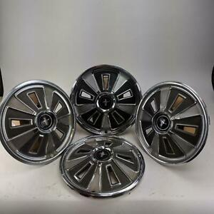 Ford Mustang 1965 Vintage Classic 14 Hubcaps Set Of 4 Wheel Cover Hub Caps