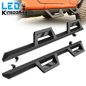 Running Boards For 07 18 Jeep Wrangler Jk Unlimited 4 Door Nerf Bars Side Steps