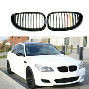 Front Gloss Black Kidney Grill Grille M color Dual Slat For Bmw E60 E61 2003 10