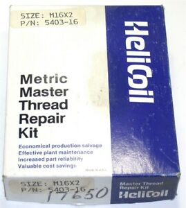 Heli coil 304 Stainless Steel Thread Repair Kit M16 X 2 Size 24mm Length 5403 16