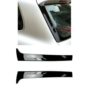 3x 2pcs Gloss Black Rear Side Wing Roof Spoiler Cover Stickers Trim For To Q9b8