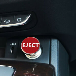 Sports eject Push Button Design Car Cigarette Lighter Plug Cover Red Universal