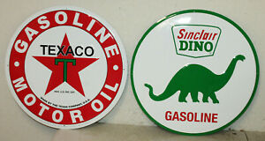 2 Large Vintage Style 24 Texaco Sinclair Gas Station Signs Man Cave Garage
