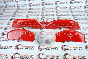 Mgp Red Aluminum Caliper Covers Fits 2015 2020 Ford Mustang Ecoboost Premium