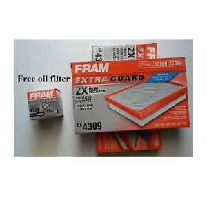 2 Air Filter Fram Ca4309 And Free 1 Oil Filter Frame Tg6607