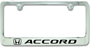 Honda Accord Chrome Plated Metal License Plate Frame Holder newest Style
