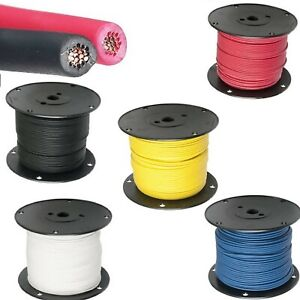 18 Ga Gxl Standard Wall Automotive 12v Electrical Wire 8 Color Options