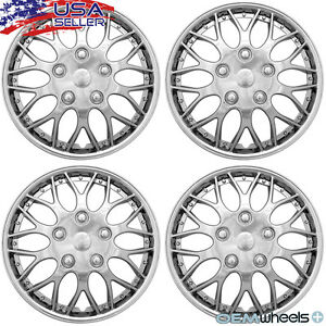 15 Inch Hubcaps Wheel Covers Hub Caps Chrome Wheels Retention Ring New Set Of 4