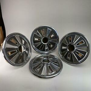 1966 Vintage 14 Hubcaps Ford Mustang Wheel Cover Center Cap Set Of 4