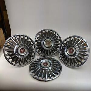 Ford Mustang Hubcaps Standard 14 Vintage 1967 Wheel Cover Red Center Cap 4 Pcs
