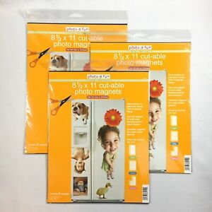 3 Pks Cut able Photo Adhesive Magnet Sheets 8 5 X 11 Business Cards Signs Crafts