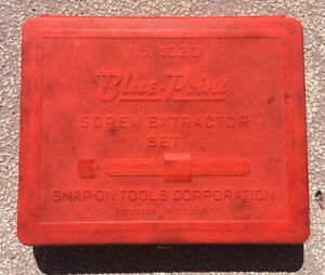 Blue point By Snap on Tools Screw Extractor Set No 1020 Made In Usa