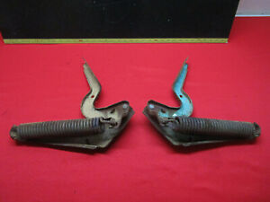 1956 1957 Lincoln Premiere And Capri Trunk Lid Hinge Pair With Spring