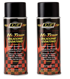 Dei Exhaust Wrap Header Downpipe Silicone Coating Black High Temp Spray 2 Pack