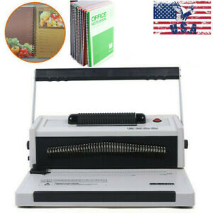 S20a Manual Spiral Coils Binding Machine With Electrical Inserter 110v 60hz Us
