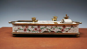 Antique 19th Century Chinese Cloisonne Opium Serving Tray