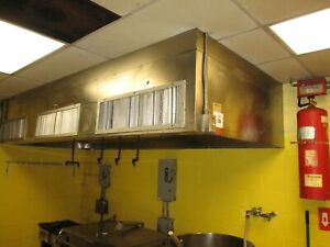Complete 12ft Kitchen Exhaust Venthood Exhaust Make Fans fire Suppression 14c