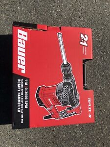 Bauer Rotary Hammer Drill Sds Max type Pro Variable Speed 11a 0 3600 Bpm