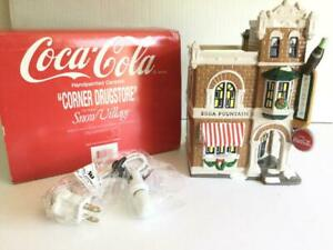DEPT 56 COCA COLA COKE CORNER DRUGSTORE 54844 LIGHTED Building