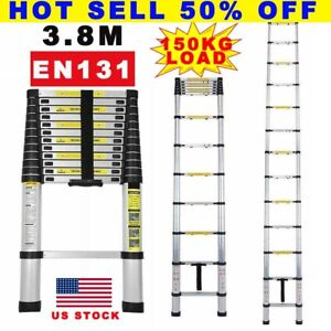 Portable Heavy Duty Multipupose Aluminium Telescopic Ladder Extendable Stool Us