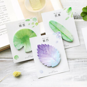 Natural Plant Leaf Sticky Note Memo Pad Office Planner Sticker Plant Newly