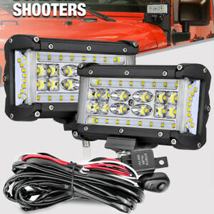 Wiring Kit 2x 6 Led Work Light Bar Combo Pod Side Shooter Driving Off Road 5