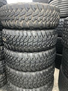 37x12 50x16 5 Goodyear Wrangler Mtr Used Military Tires 50 or Better