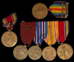 6 WWII US Medal Set American amp; Asiatic Pacific Service $125.00