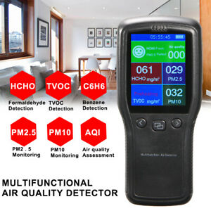 Newly Air Quality Monitor Pm2 5 Pm10 Formaldehyde Lcd Digital Detector 8in1