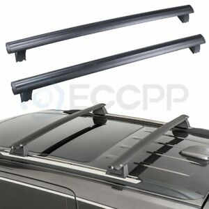 Cross Bar For 2017 19 Jeep Grand Cherokee Black Front Rear Roof Top Rack Eccpp