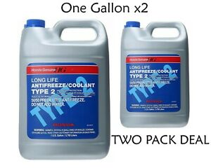 Two Pack Deal Honda Antifreeze Coolant Type 2 Blue Coolant