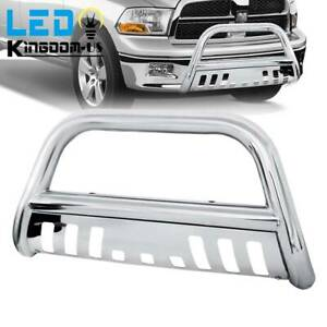 3 Bull Bar Bumper Guard For 2009 2018 Dodge Ram 1500 Chrome Stainless Steel