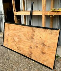 Heavy Duty Cargo Carrier Metal Frame Heavy Wood Support Used Good Condition