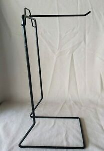 Black Smooth Wire Standing Display Retail Jewelry Hanging Hook Display Stand