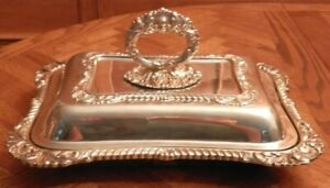 Silver Covered Serving Dish Folgate