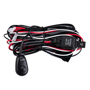12v Wiring Harness Kit On Off Rock Switch Fuse Relay For Led Work Light Bar Pods