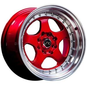 4 set New Jnc Wheels Jnc010 17x8 5x114 3 30 Candy Red Machine Lip
