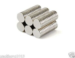 200pcs Small Disc Cylinder Neodymium Magnets 8 X 1 5 Mm Round Rare Earth Neo N50