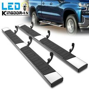 For 19 20 Chevy Silverado 1500 Double Cab 6 Running Boards Nerf Bars Side Steps