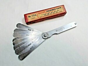 Starrett No 172a Machinists Thickness Gage With Locking Device Made In Usa
