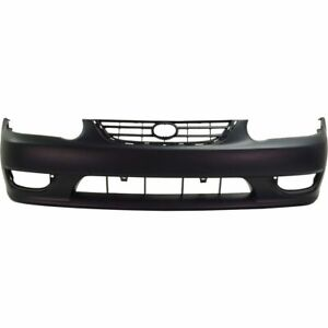 New To1000217 Front Bumper Cover Primed Plastic For Toyota Corolla 2001 2002