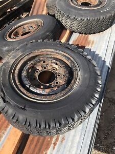 4 1946 1947 Chevy Truck 3 4 Ton 15 8 Lug Steel Wheels That Have Clips