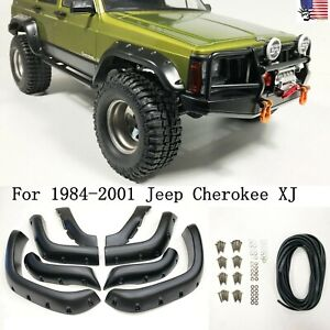 6 Wide Pocket Style Protector 8pcs Set Fender Flares For 84 01 Jeep Cherokee Xj