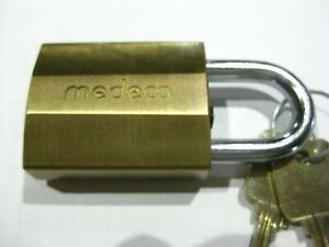Medeco Padlock W 2 Keys New High Security Made In The Usa